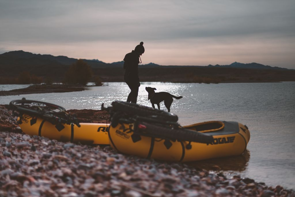 packraft sunset